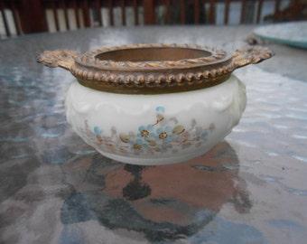 Antique Victorian Wave Crest Wavecrest Pin Jar Dresser Jar