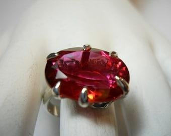 Peony Topaz Gemstone Ring
