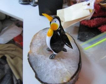 Murano Glass Penguin Hand Blown Figurine Made In Italy