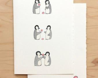Friendship Card Penguins