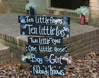 Gender Reveal Sign- Baby Girl- Baby Boy- Baby Shower- Baby Shower Decor- Gender Reveal Party