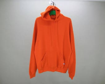 Russell Sweatshirt Men Size L/XL Vintage Russell Hoodie 90s Russell Vintage Solid Sweat Made in USA