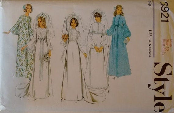 UNCUT Style #3921 Wedding Bridal Bridesmaid\'s Dress Gown Pattern ...