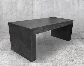 TV concrete furniture wax or coffee table