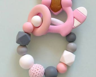 Create your own teething ring, Silicone beads, baby shower gift, teething baby, chew toy, chewlery, CHEAP SHIPPING