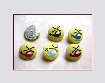 Set of five buttons 28 mm helicopters