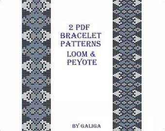 Beaded bracelet Pattern Peyote pattern Black bracelet tutorial Gothic jewelry pattern Loom pattern Cuff pattern Jewelry making Gray bracelet