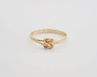 Double Knot Ring 14k Gold Filled BFF Ring Bridesmaid Ring Love Knot Ring
