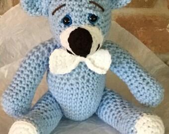Little Bear Blue, the Amigurumi Teddy Bear