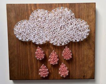 String Art - Nursery Decor - Baby Shower  Gift -  Birthday Gift - Rainbow Decor - Spring Decor - Office Decor - Gallery Wall - Gift for Baby