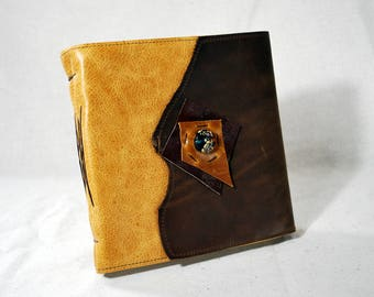 Magical Leather Journal with Glass Bead