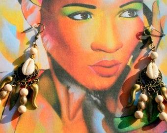 Cowrie shells earrings