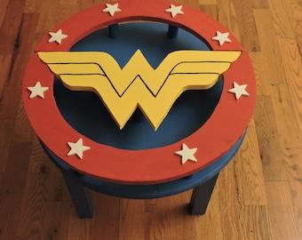 Handmade Wonder Woman End Table - DC Comics Wonder Woman Justice League