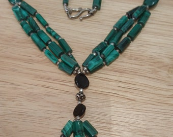 Vintage Malachite necklace