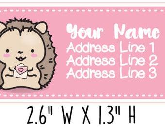 Cute Kawaii Hedgehog Address Labels