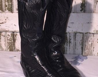Womens Lizard Justin Boots size 5 1/2 B
