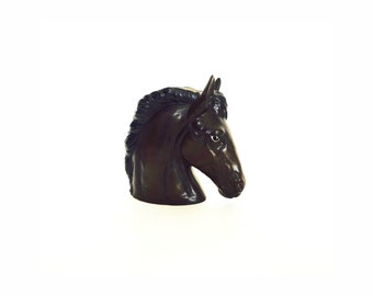 Vintage Ceramic Horse Head Planter / Vase