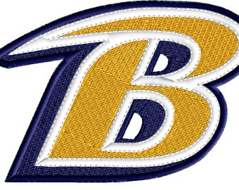 Baltimore Ravens Embroidery Design, Embroidery Design, Ravens Design, Machine Embroidery, Logo, Instant Download