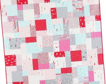 Easy Bake Quilt Pattern #117 by Cluck Cluck Sew - Layer Cake Quilt - 2 Sizes - Super Fast Beginner (W741)