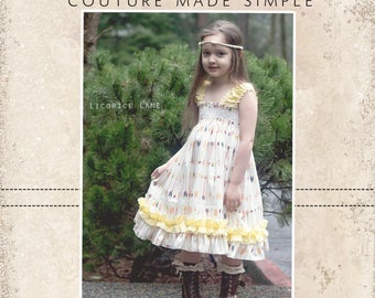 Seyla's Sundress & Top PDF Pattern Sizes 6/12 mos to 8 girls