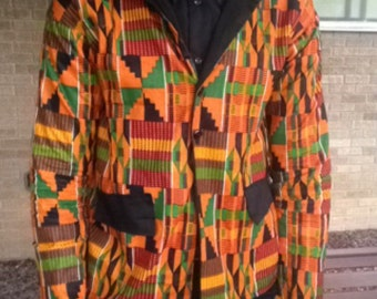 Blazer:African Kente Fabric Men's Blazer