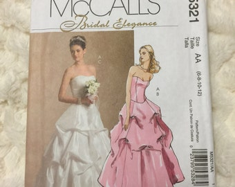 McCall's Misses Bridal Elegance 13 piece Wedding Top and Skirt Sewing Pattern M5321 UC Uncut FF Size 6-8-10-12