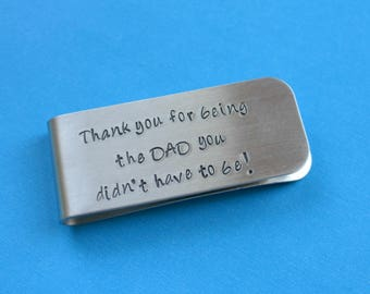 Customized Money Clip Personalized Money Clip Stepfather Gift Stepdad Money Clip Stepdad Stepfather Wedding Father's Day