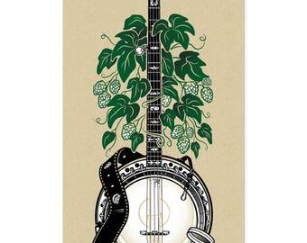 Banjo - Screen Printed Poster