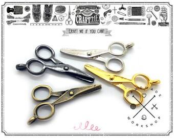 10pcs Vintage scissor charms Pendent for Necklace Bracelet Scrapbooking Key chain