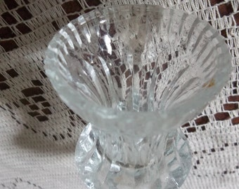 Cut glass toothpick holder