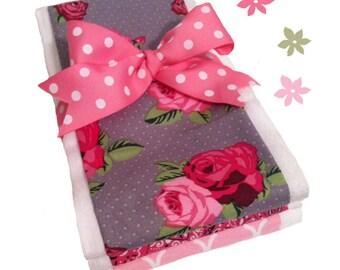 Country Rose Burp Cloths - Set of Three Burp Cloths