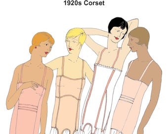 RH1234 Ladies 1920's Corset  sewing  Pattern  REDUCED TO CLEAR 1920s Corset sewing pattern