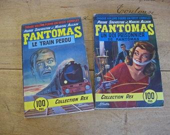 French paperback books, Collection Rex Fantomas fiction
