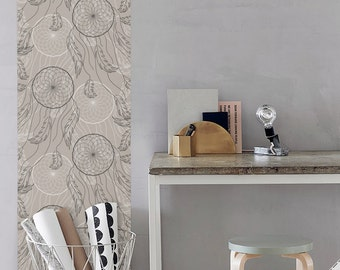 Peel and Stick vinyl Wallpaper - Dream catcher print - CM038