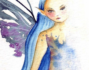 Original Watercolour Painting ~ Barely There