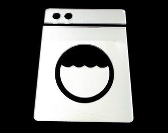Utility Room Door Sign - Washing Machine design Utility/Laundry Room Mirror