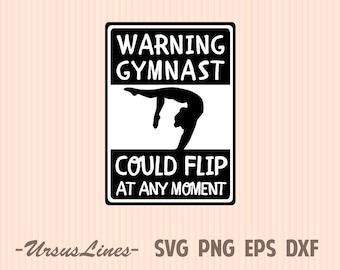 Warning gymnast could flip at any moment Gymnastics shirt Girl sports shirts Gymnastics prints