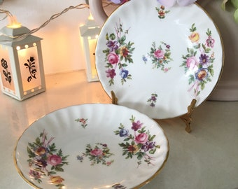 Pair of Vintage Minton 'Marlow' Bone China Butter Dishes