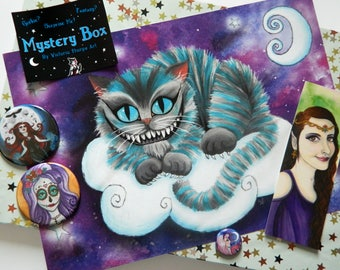 Mystery Box - Alternative Art By Victoria Thorpe - Christmas Present Gift Lucky Dip Bag Surprise Random Spooky Gothic Goth Fantasy