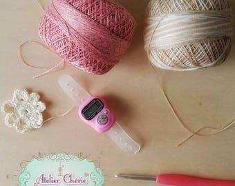 Bague compte-rangs digital pour Crochet /Tricot