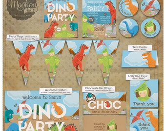 Dinosaur Party Printable Party Package