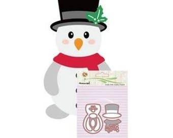 Die matrix snow scrapbooking snowman cutout