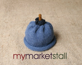 Blueberry Hat -  0-3 Months - Adult Sizes - Ready to Ship