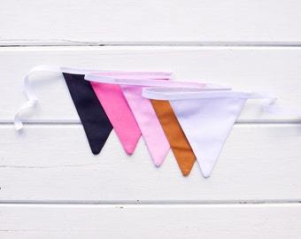 "Good Will Bunting ""Meg"" Navy Pink Copper Bunting"