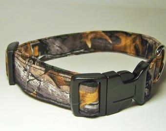 RealTree Advantage Timber  Handmade Camouflage Dog Collar Real Tree Camo