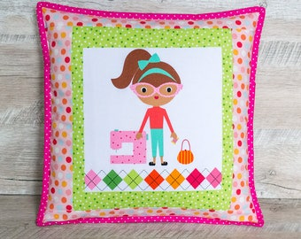 Green pillow covers Girl birthday gift Girl room decor Girl nursery decor Sister gift Throw pillow cases Toss pillows for girl Kids cushion