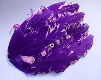 Purple on pink feather pad - CLEARANCE ITEM