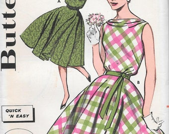 Vintage 1960s Butterick Sewing Pattern 9651- Misses' Dress Quick 'N Easy size 12 bust 32 uncut FF