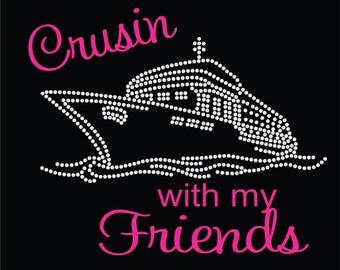 Rhinestone Cruise Shirt Vacation Shirt First Cruise