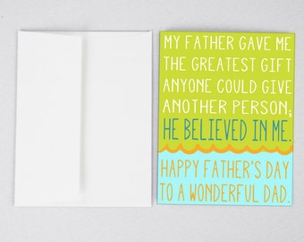Greatest Gift Father's Day Card, Funny Father's Day Card, Father's Day Card, Greeting Card, Father's Day, Gifts for Dad, Father's Day Print
